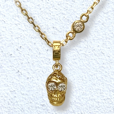 PETITE PAVE SKULL NECKLACE