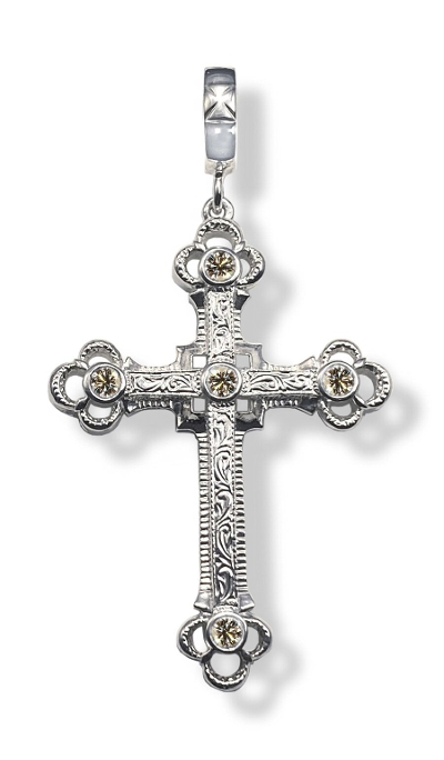 GROUND CROSS  PENDANT TOP