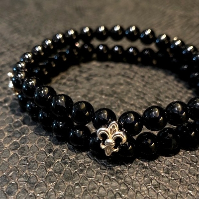 Onyx Beads Bracelets with FDL Botton