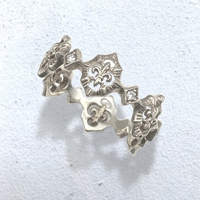 Greate Rocks FDL White Gold Ring