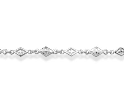 MIXED DIAMOND SHAPED CROSS OPEN SOLID/22inch