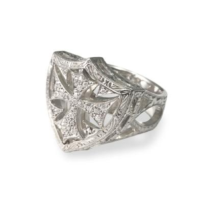 SHIELD RING ALL PAVE